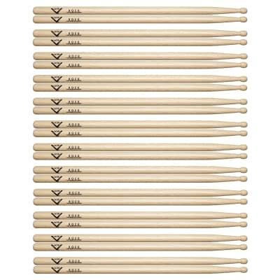 Vater Hickory Rock Wood Tip Drum Sticks (12 Pair Bundle)