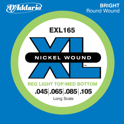 D'Addario Nickel Wound Electric Bass Strings - Custom Light - Long Scale  45-65-85-105