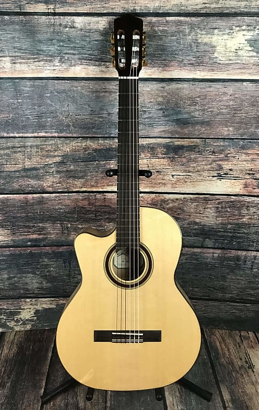 Kremona Left Handed Rosa Luna Flamenco Series Acoustic Electric Cutaway Classica Acoustic Electric Guitars Guitars & Basses