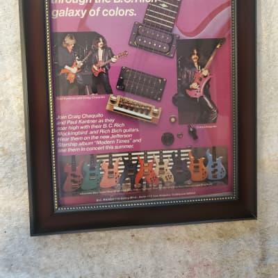 1981 B. C. Rich Guitars Color Promotional Ad Framed Craig Chaquito, Paul Kantner Starship Original