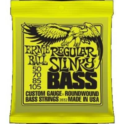 Ernie Ball 2832 Regular Slinky Nickel Wound Electric Bass Strings; 50-105