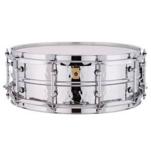 "Ludwig LM400KT Hammered Supraphonic 5x14"" Aluminum Snare Drum with Tube Lugs"