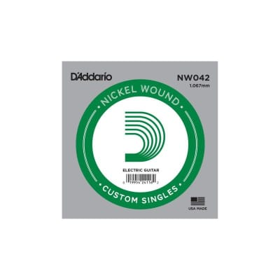 D'Addario Nickel Wound Electric Single String NW042