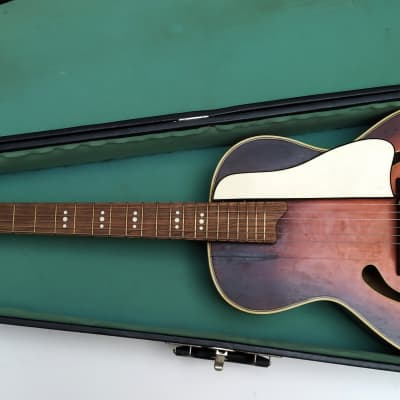MELODY Archtop jazz acoustic , Italy eary 60's + Hardcase for sale