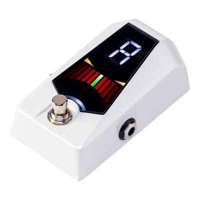 Korg Pitchblack Advance Pedal Tuner, White for sale