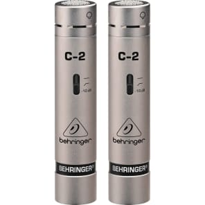 Behringer C-2 Small Diaphragm Cardioid Condenser Microphone Matched Pair