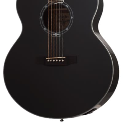 Schecter Synyster Gates 3703 Signature Mahogany Body Acoustic Guitar Gloss Black for sale