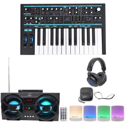 Novation BASS STATION II 25-Key MIDI USB Keyboard+Headphones+Bluetooth Speakers