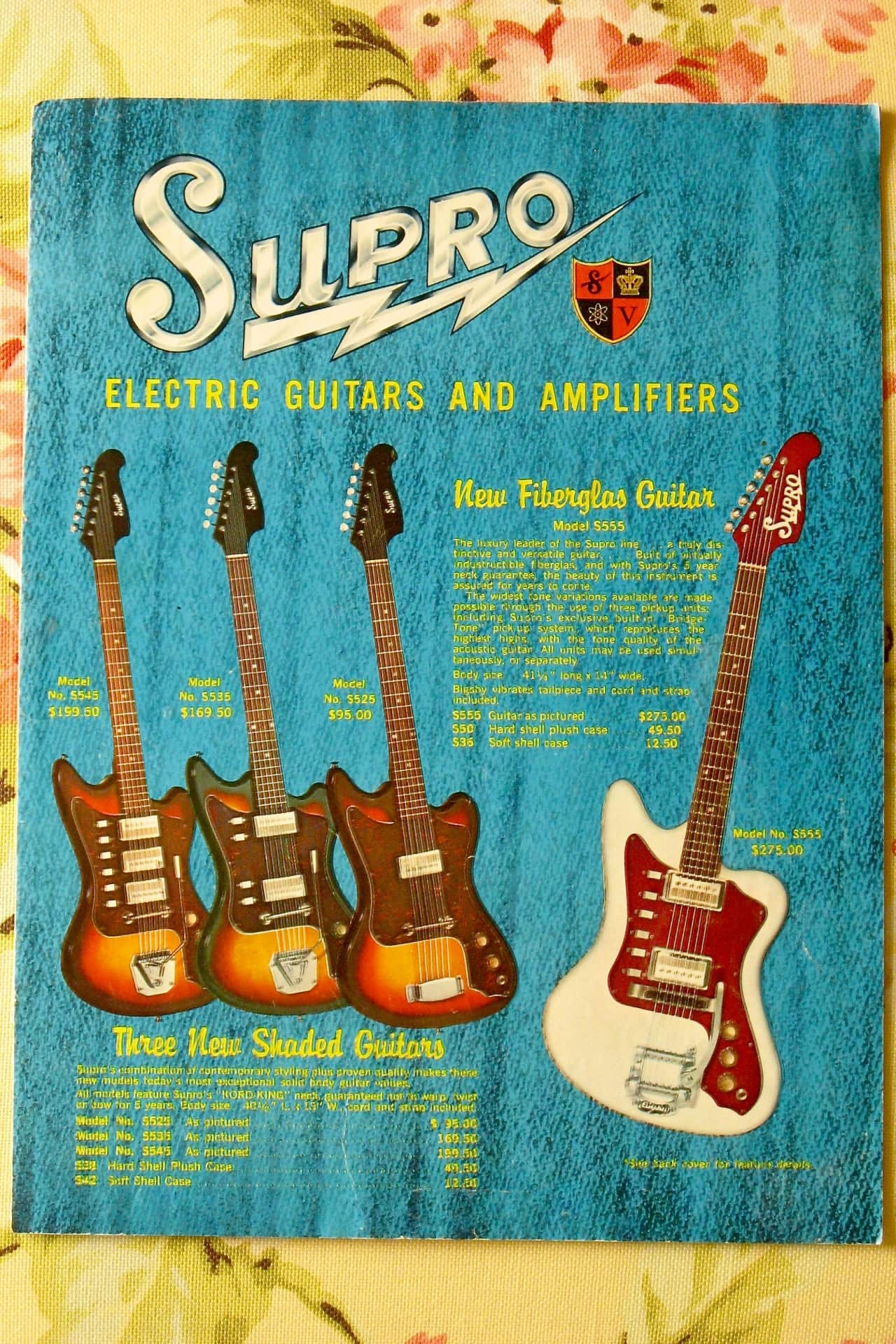 Supro Guitar And Amp Catalog 1965 King James Music Reverb