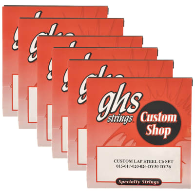 GHS Electric Lap Steel Strings C6 Tuning 15-36 (6 Pack Bundle)