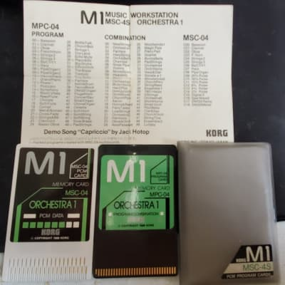 Korg M1 Orchestra Cards MSC-04 and MPC-04 (USED)