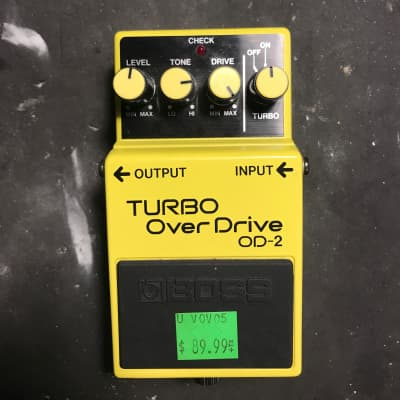 Boss Turbo over drive OD-2 Pedal
