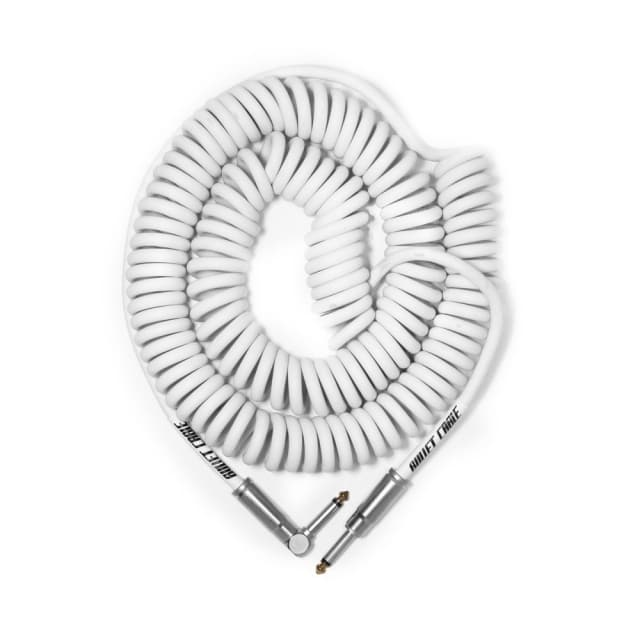 Bullet Cable  30 Foot Coil Cable White image