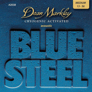 Dean Markley 2038 Blue Steel Acoustic Guitar Strings - Medium (13-56)