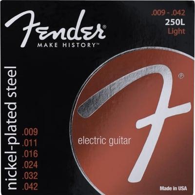 FENDER Super 250's Nickel-Plated Light .009-0.42 Steel Electric Guitar Strings