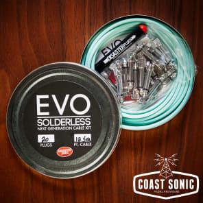 Disaster Area Designs EVO Solderless Cable Kit 20 plugs Seafoam Green