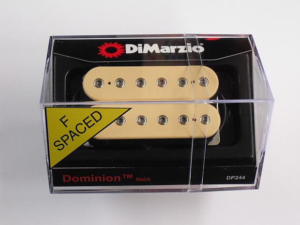 DiMarzio Regular Spaced Dominion Neck Humbucker Creme W//Chrome Poles DP 244