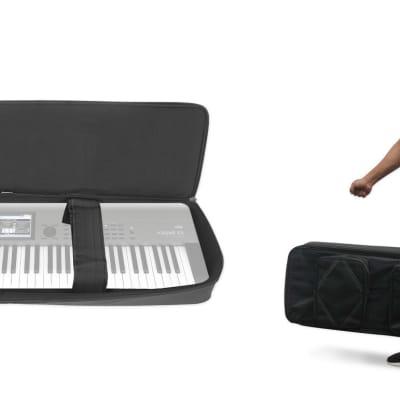 Rockville 76 Key Padded Slim Durable Keyboard Gig Bag Case For KORG KROME EX-73