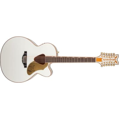 Gretsch G5022CWFE-12 Rancher Falcon Jumbo 12 String (White) for sale