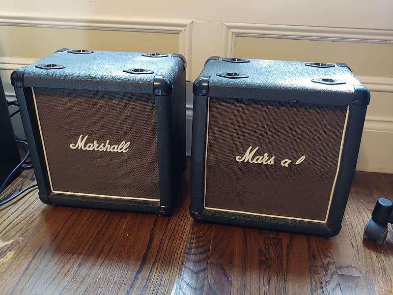 marshall mini stack speakers 3005 80s black tolex brown reverb. Black Bedroom Furniture Sets. Home Design Ideas