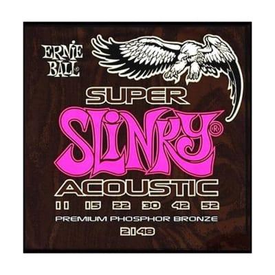 ERNIE BALL Super Slinky Acoustic Phosphor Bronze Guitar Strings (2148) Single Pack image