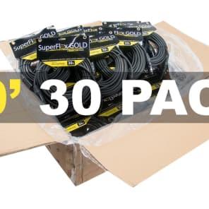 SuperFlex GOLD SFM-30 Premium XLR Cables - 30' (30-Pack)