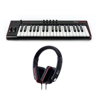 IK Multimedia iRig Keys 2 Pro 37-Key USB MIDI Keyboard Controller (Black) + FREE Sky Headphones!