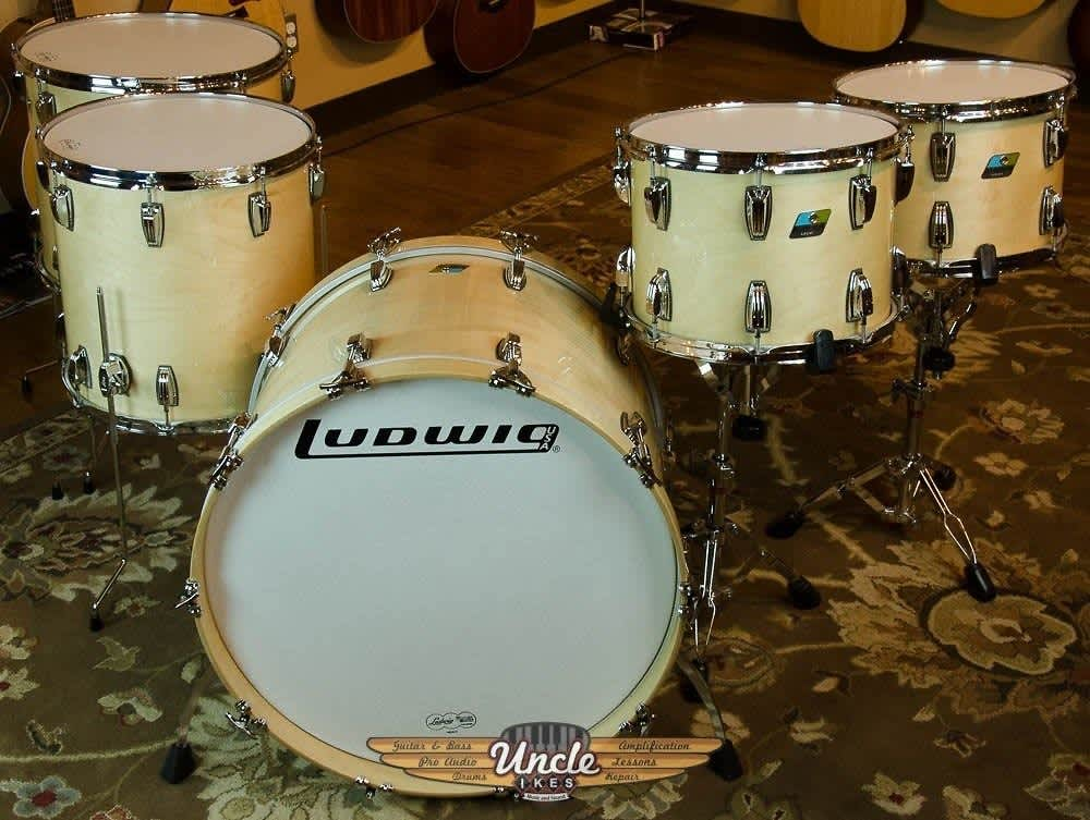 new ludwig classic maple drum set natural maple 5 piece reverb. Black Bedroom Furniture Sets. Home Design Ideas