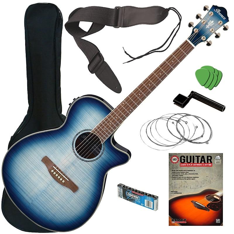 Blue Burst Guitars : ibanez aeg20ii acoustic electric guitar indigo blue burst reverb ~ Vivirlamusica.com Haus und Dekorationen