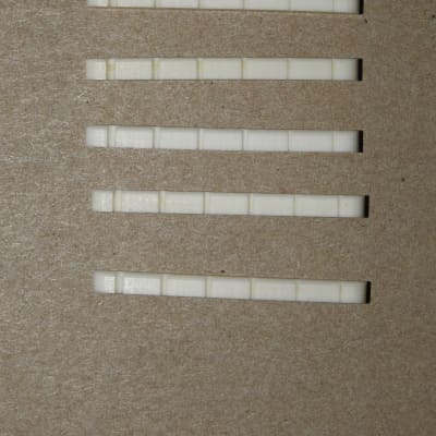 5 Pre Slotted Genuine Bone Nuts Flat Bottom 42mm Bleached For Fender Strat and Tele Guitars 5 Pack!
