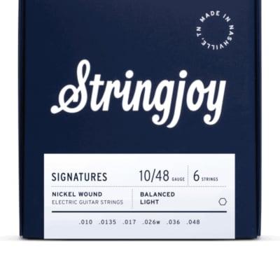 Stringjoy Signatures | Balanced Light Gauge (10-48) Nickel Wound Electric Guitar Strings