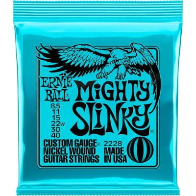 Ernie Ball 2228 Mighty Slinky Nickel Wound Electric Guitar Strings - .0085-.040