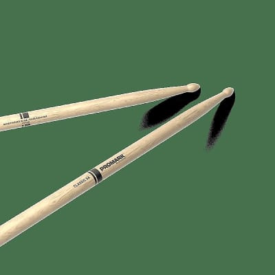 Pro-Mark PW5AW Classic 5A Shira Kashi Oak Wood Tip (Pair) Drum Sticks