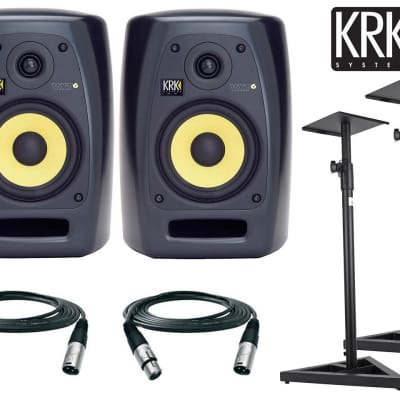 KRK VXT6 Active Studio Monitor - 6 Inch, 90 Watts (Pair) Free Stands and XLR cables 18ft ea.