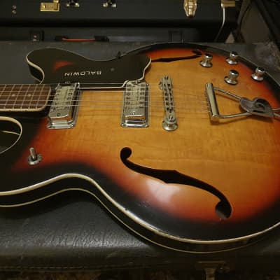 RARE Vintage 1967 Burns Baldwin 706 Sunburst Artist Owned - Gibson ES-335 Style 60's 1960'sGuitar for sale