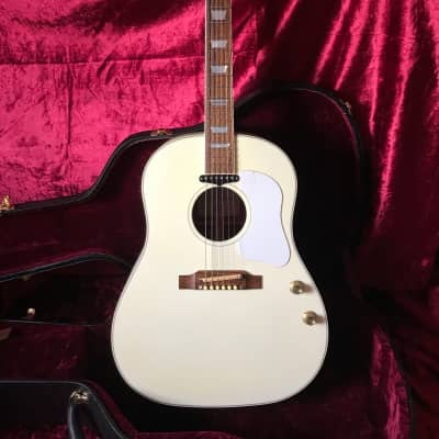 Gibson Custom Shop John Lennon J-160E 70th  Anniversary IMAGINE 2010 White Signed COA Yoko Ono RARE for sale
