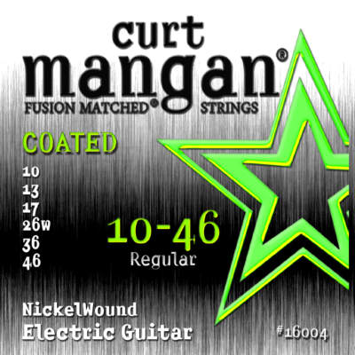 Curt Mangan  10-46 Coated Nickelwound Strings - 2 Pack - Free USA 2 day Shipping