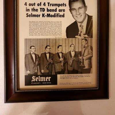 1958 Selmer Horns Promotional Ad Framed Warren Covington Tommy Dorsey Original