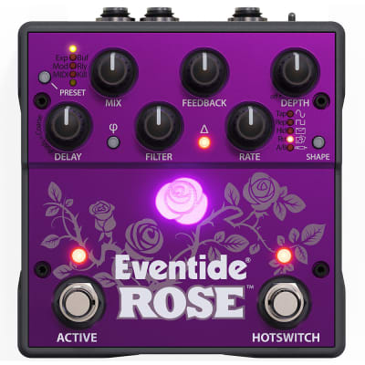 Eventide Rose: Modulated delay pedal with analog soul