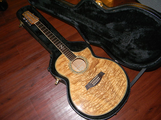 Ibanez EW2012ASENT 12 String Exotic Wood Acoustic Electric Guitar Gloss Natural W EW Series Case 20