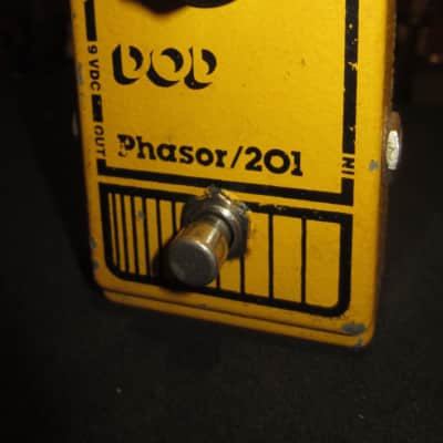 Vintage Circa 1979 DOD Phasor 201 Yellow for sale