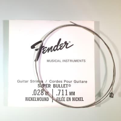 """Fender REAL Vintage 70's Super Bullet String 0.028"""" Nickel Wound"""