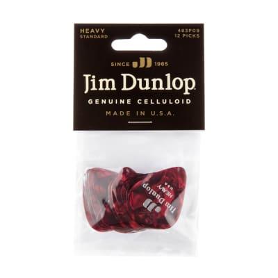 Dunlop 483P09HV Celluloid Standard Classics Heavy Guitar Picks (12-Pack)