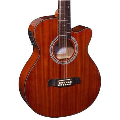 Brunswick  Brunswick Grand Auditorium 12 String Electro  BTK5012M Mahogany (RRP £259) DPS for sale