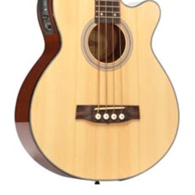 Monterey MAB-315CE Solid Top Acoustic Electric Bass Guitar - Natural for sale