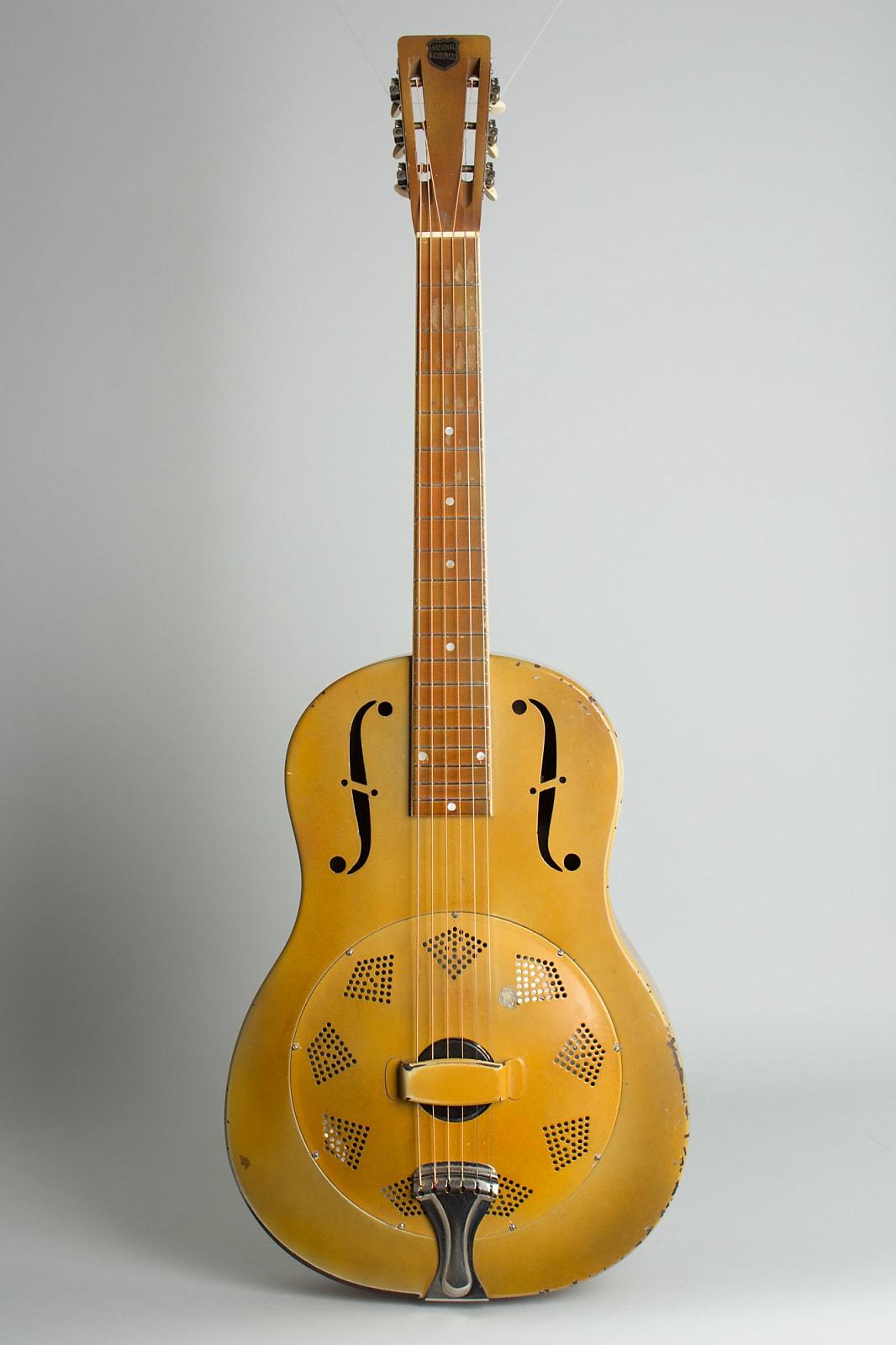 National  Triolian Resophonic Guitar (1931), ser. #972 P, black tolex hard shell case.