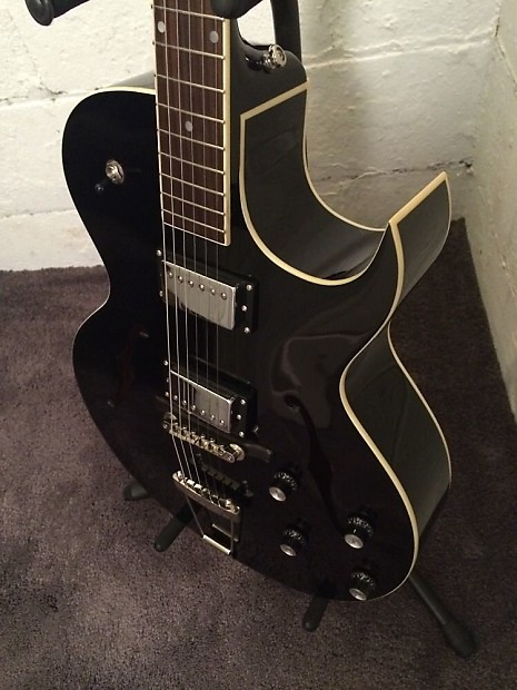 the loar lh 280 cbk archtop cutaway electric guitar black reverb. Black Bedroom Furniture Sets. Home Design Ideas
