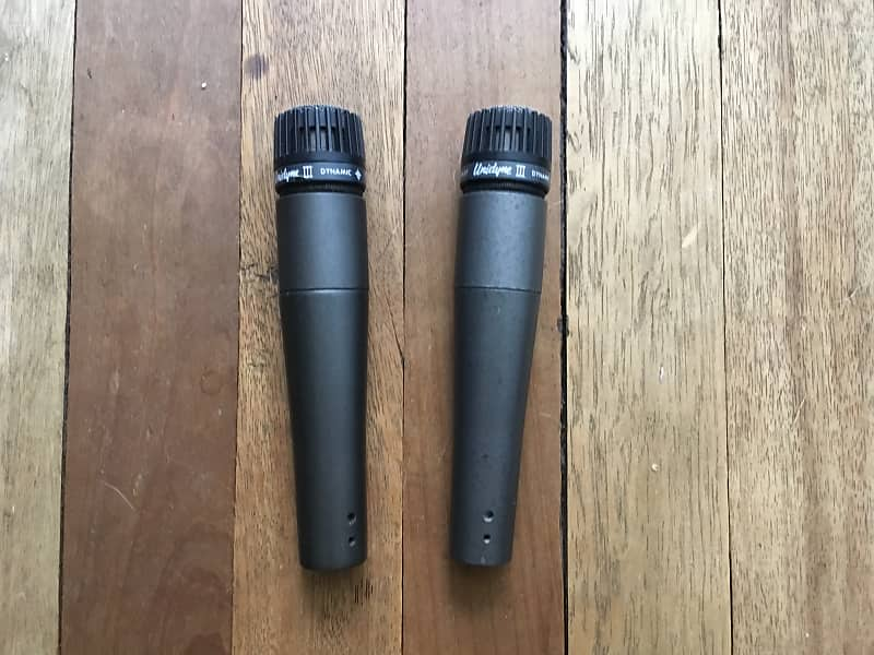 Pair of Shure sm57 Unidyne made in USA — international buyers welcome!