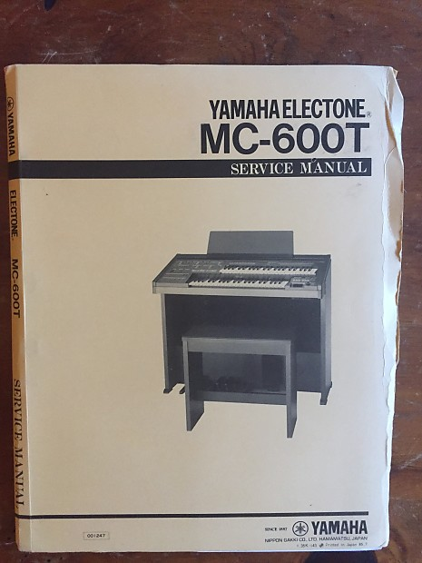 Yamaha Electone MC-600T Service Manual & schematics 1985