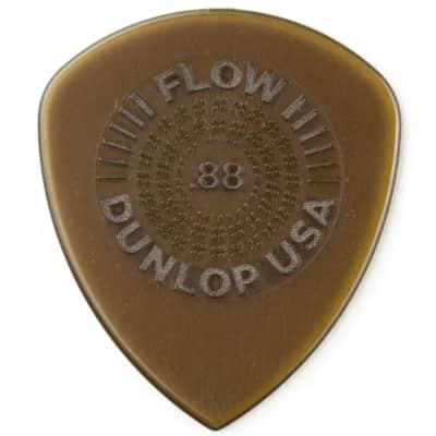 Dunlop 549P088 Flow Standard Grip Electric Guitar Picks 0.88mm 6-Pack Refill Bag